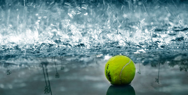 Pádel con lluvia