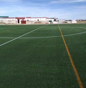 Instalador de campo de futbol
