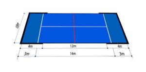 dimensiones medidas pista padel