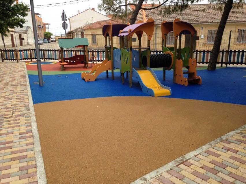 pavimento de patio de colegio